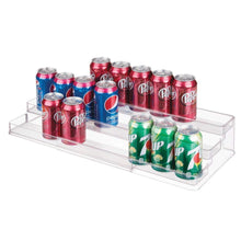 Load image into Gallery viewer, Discover the best mdesign large plastic adjustable expandable kitchen cabinet pantry shelf organizer spice rack with 3 tiered levels of storage for spice bottles jars seasonings baking supplies 2 pack clear