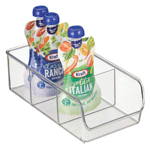 Shop for mdesign plastic food packet kitchen storage organizer bin caddy holds spice pouches dressing mixes hot chocolate tea sugar packets in pantry cabinets or countertop 8 pack clear