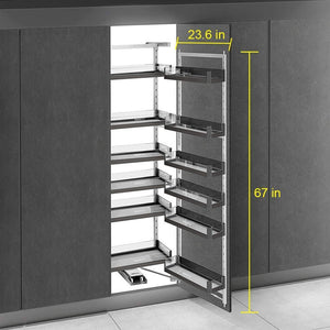 Shop here spacekeeper kitchen pantry pull out shelves pullout pantry pullout wall cabinet organizer for all liquid drinks snacks 12 shelves stainless steel 67in height 23 6in width