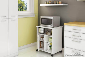 Discover the south shore 4 door storage pantry with adjustable shelves pure white