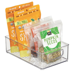 Buy idesign plastic storage bin with handles for kitchen fridge freezer pantry and cabinet organization bpa free set clear