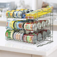 Load image into Gallery viewer, Related sorbus can organizer rack 3 tier stackable can tracker pantry cabinet organizer holds up to 36 cans great storage for canned foods drinks and more in kitchen cupboard pantry