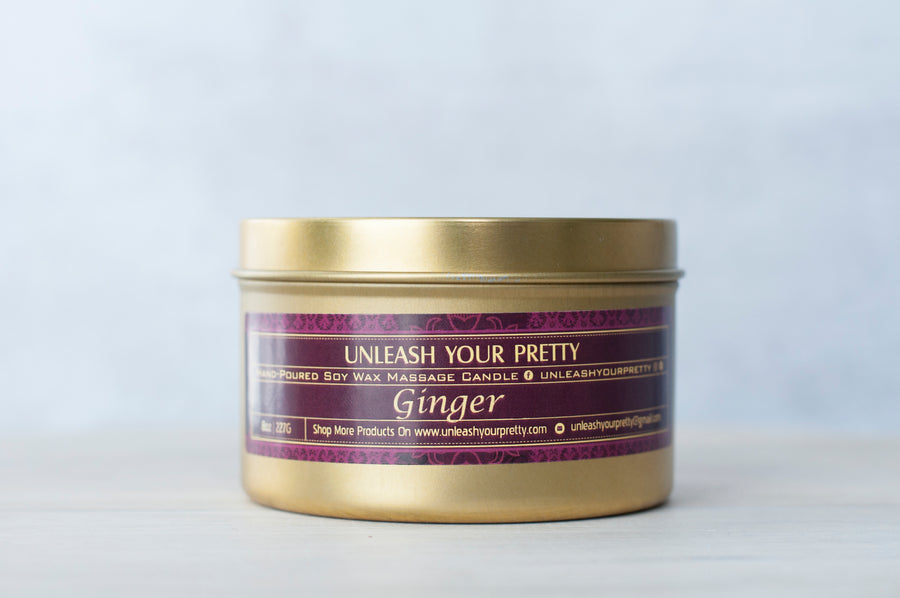Ginger Moisturizing Soy Candle Travel Tin