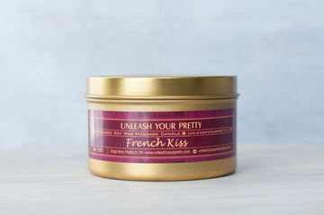 French Kiss Moisturizing Soy Candle Travel Tin