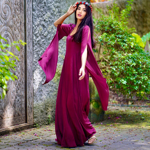 Lagenlook Long Sleeve Renaissance Dress