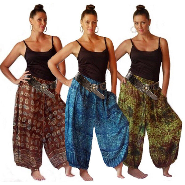 Batik Print Lagenlook Wide Pants