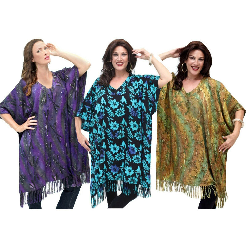 Gypsy Cover Up Batik Poncho Top