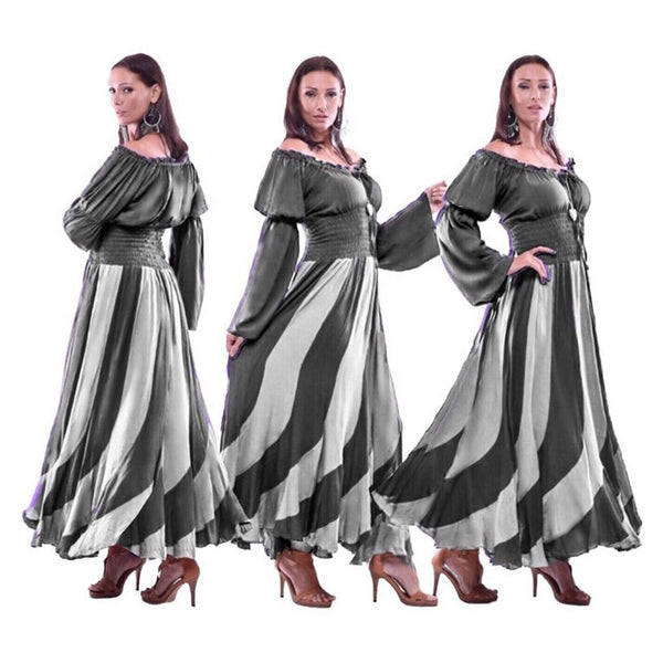 Leilani Off Shoulder Long Sleeve Maxi Dress
