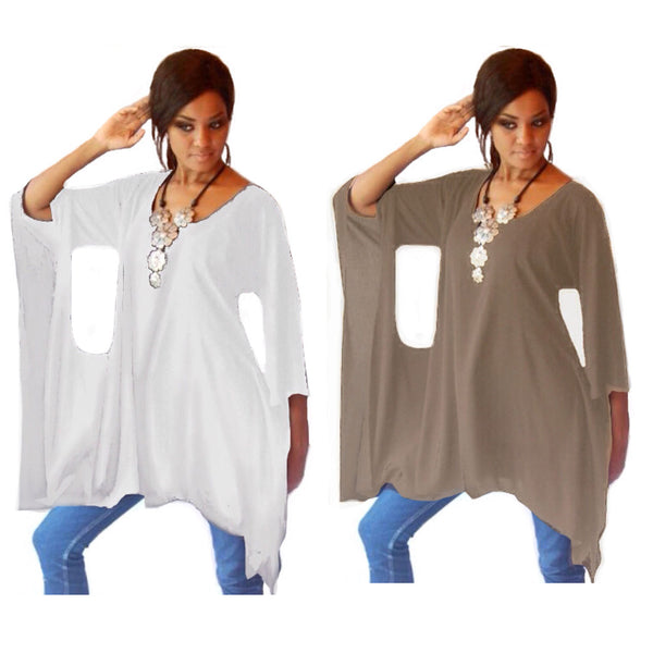 Elegant Quirky Poncho Top