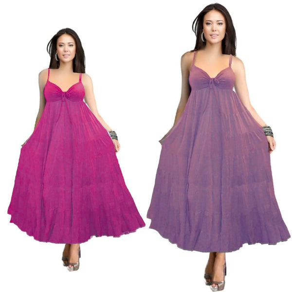 Emma Spandex Bodice BoHo Party Maxi Dress