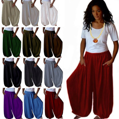 Lovely Hippy Boho Wide Leg Harem Pants