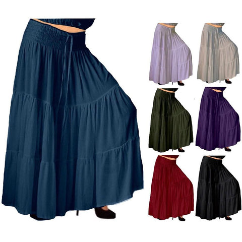 Flattering Maxi Tiered Skirt