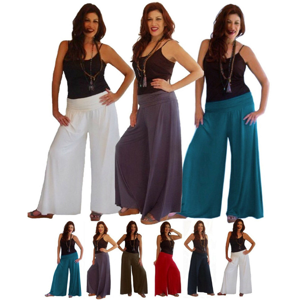 Stretch Spandex Bell Gauchos Pants