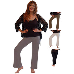 Rayon Lycra Blend Stretch Pants