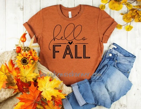 Hello Fall (Black Print)