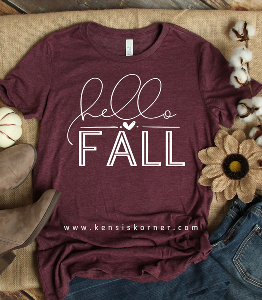 Hello Fall (White Print)