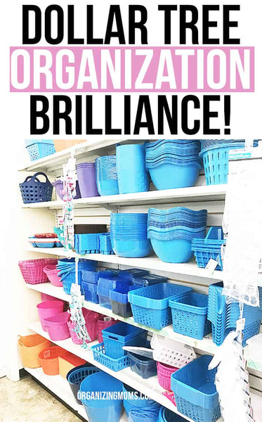 Dollar Tree organization ideas that will blow your mind! Check out these smart, cheap ways of organizing your space using items from the dollar store.