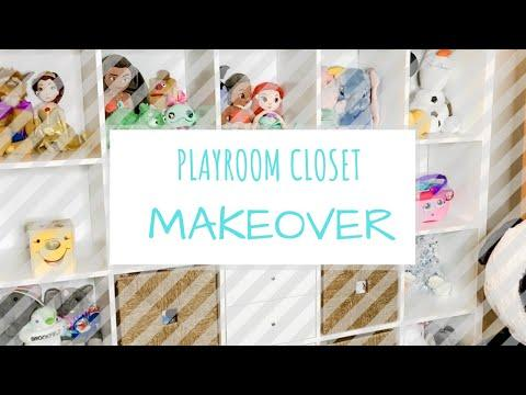 Playroom Closet Organization | Clean and Organize With Me | Toddler Playroom