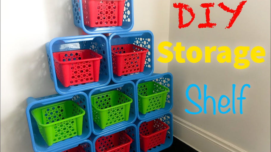 DIY Storage Shelf Style #2 | Kids Toy Organizer | Dollar Tree by Waves & Curls (1 year ago)