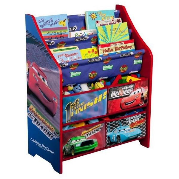 Delta Children's Products - Disney Cars Book and Toy Organizer