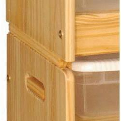 069BRNA Toy Organizer Brackets in Natural
