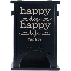 Personalized Pine Pet Toy Box - Happy Dog Happy Life