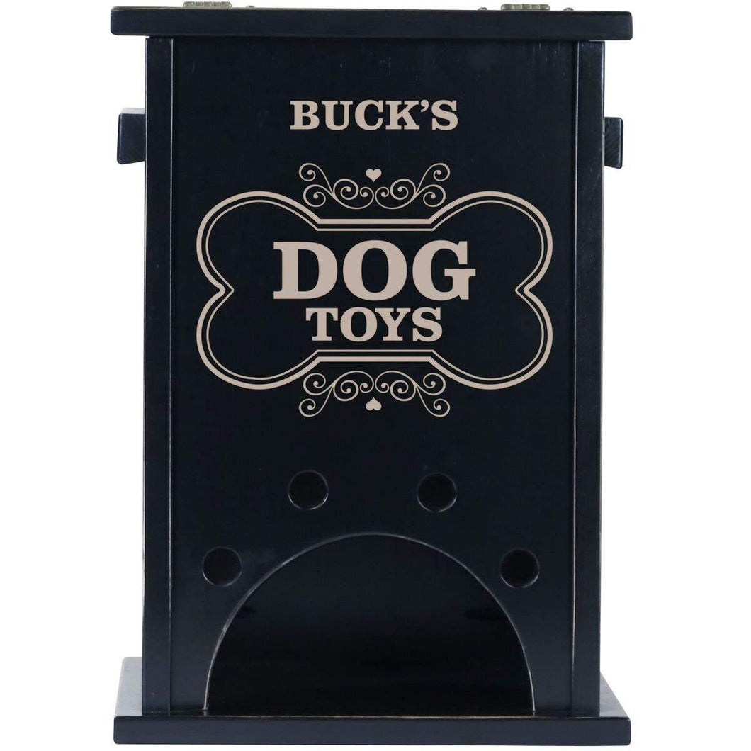 Personalized Pet Toy Box Black - Dog Toys