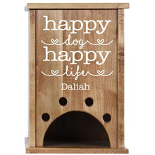 Load image into Gallery viewer, Personalized Pet Toy Box - Happy Dog Happy Life