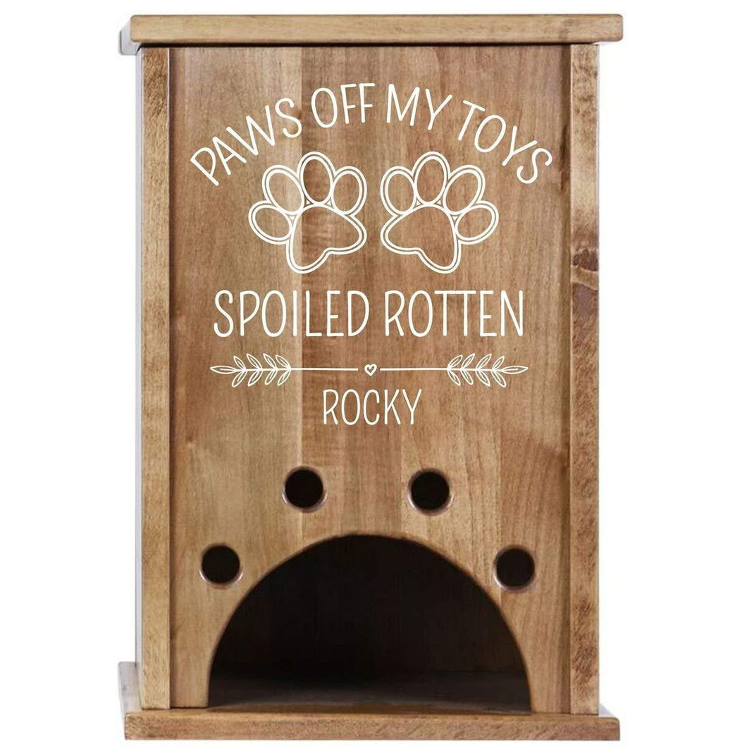 Personalized Pet Toy Box - Paws Off My Toys