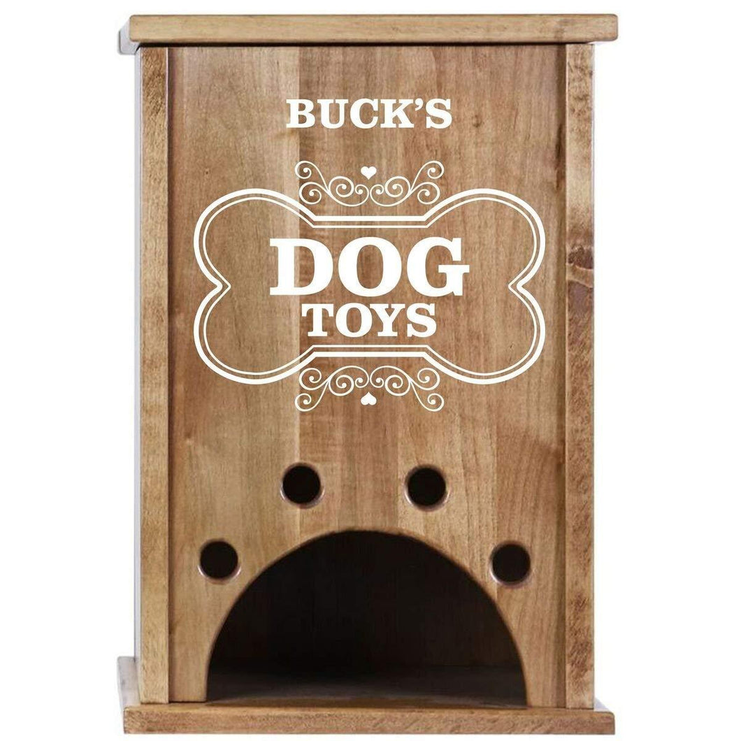 Personalized Pet Toy Box - Dog Toys