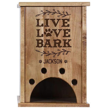 Load image into Gallery viewer, Personalized Pine Pet Toy Box - Live Love Bark