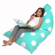 Load image into Gallery viewer, Butterfly Craze Stuffed Animal Storage Bean Bag Chair – Stuff 'n Sit Toy Bag Floor Lounger for Kids, Teens and Adult |Extra Large 200L/52 Gal Capacity |Premium Cotton Canvas (Teal)