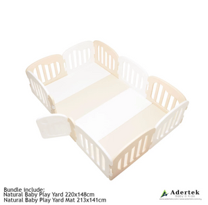 IFAM Natural Baby Play Yard + Play Mat Bundle - Beige+White (U.P. $640)