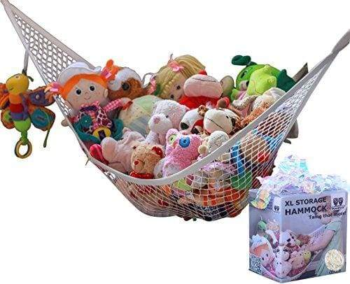 MiniOwls Storage Hammock - XLarge Toy Organizer - High Quality De-cluttering Solution & Inexpensive Idea for Every Room at Home or Facility - 3% from This Purchase is Donated to Cancer Foundation