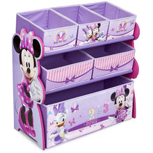 Load image into Gallery viewer, Disney Minnie Mouse Multi-Bin Toy Organizer