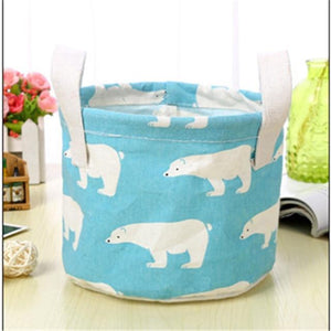 Animal Flamingo Pattern Cotton Linen Hanging Storage Bag Wedding Party Baby Shower Home Cosmetic KidsToy Organizer Decoration,Q