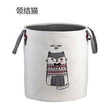 Load image into Gallery viewer, High-Grade Cartoon Folding Canvas Dirty Clothes Basket Children Toy Storage Bucket Bedquilt And Magazines Storage Box Organizer