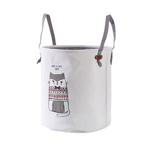 large EVA canvas Laundry basket folding clothes storage box sundries Storage barrel kid toy organizers Underwear storage basket