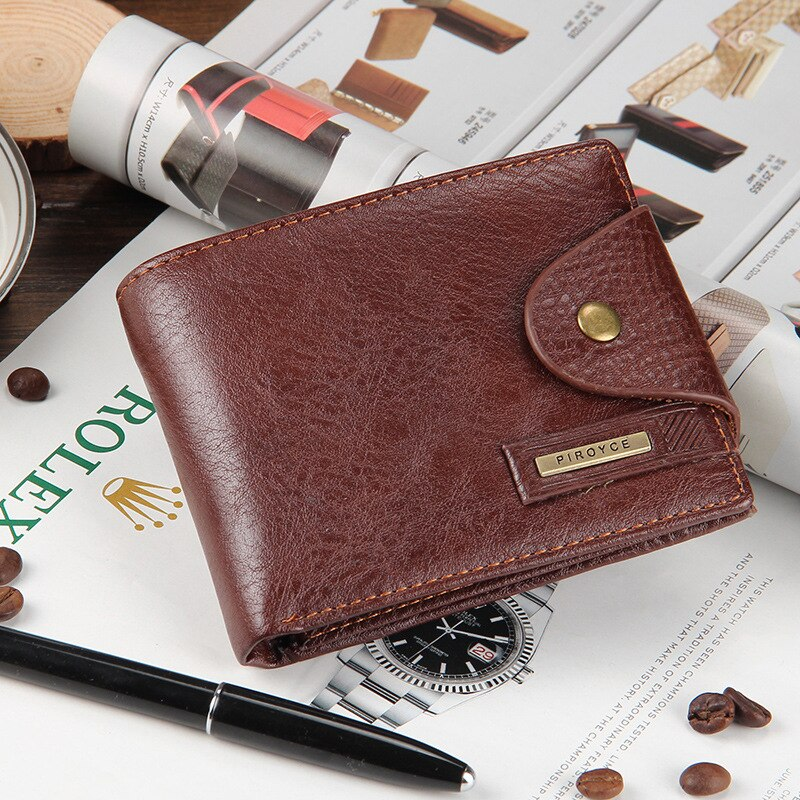 Short Men's Wallet Genuine Leather Qualitty Guarantee Purse Malecoin Purse