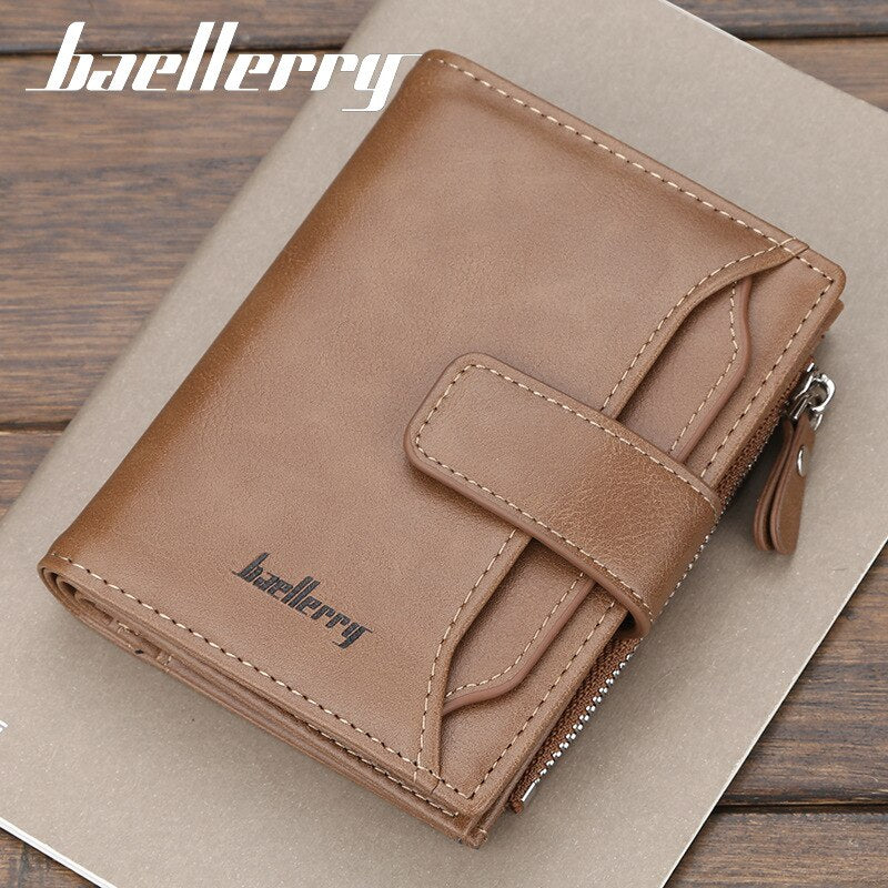 Short Casual Card Holder Stylish Men/'s Solid Wallet ID Credit Card Wallet BE