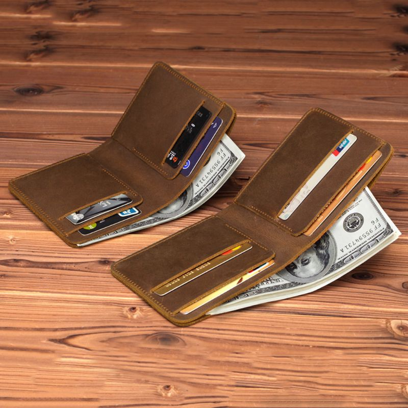 Men Genuine Leather Business Casual Wallet Cell Phone Card Holder Long Purse New