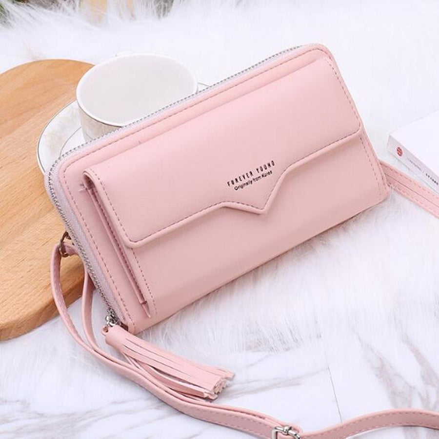Women Leather Wallets Long Design Solid Purses Woman Phone Cion Card Holders Ladies Big Capacity Clutch Carteras