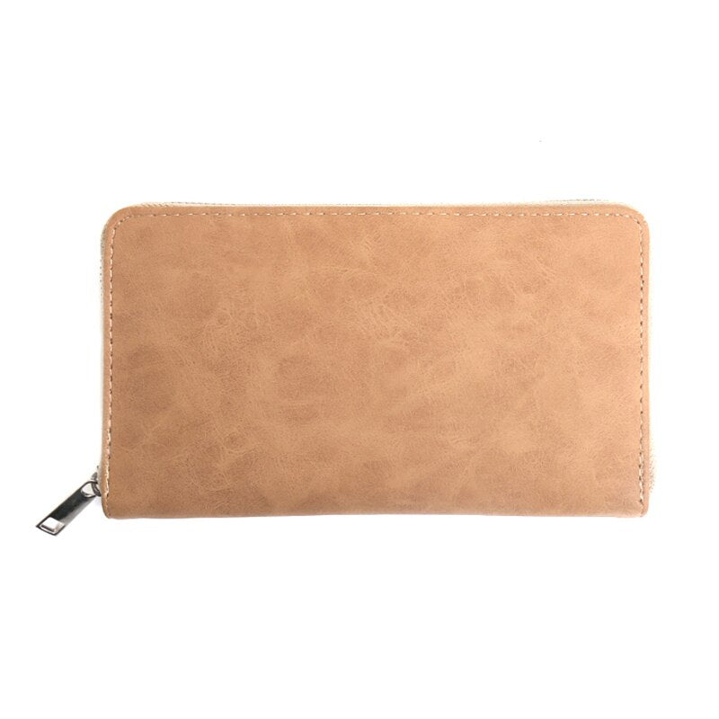 Women Leather Wallet Long Casual Lady Purses Fashion Clutch Wallet Passport Coin Card Holders Wallets