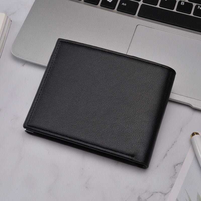 Men's Wallet Pu Leather Double Fold Men's Wallet Casual Closefitting Multifunction Leather Bag Clutch Bag