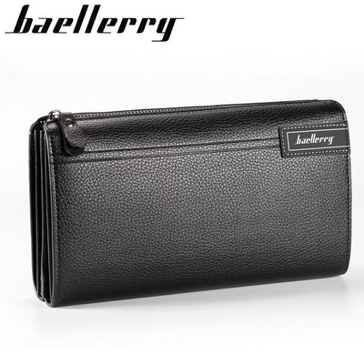 Baellerry Men Wallet Long Clutch Handy Bag Moneder Male Leather Purse Men's Clutch Bags Carteira Masculina