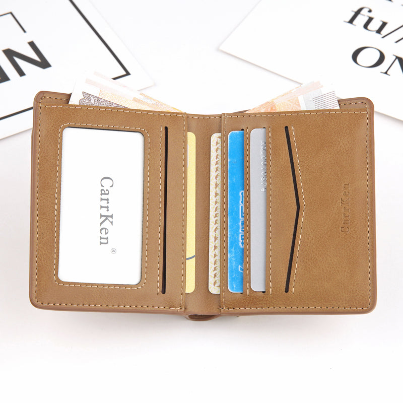 Soft Leather Coin Purse Wallet Brown