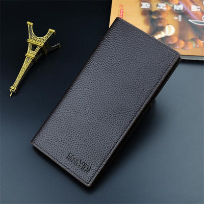 Men Wallet Slim PU Leather Purse Card Holder Litchi Grain Wallet Durable Male Long Purse Cartera Hombre
