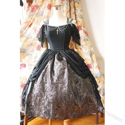 Cosplay Renaissance Medieval Palace Princess Dress Adults Vintage Solid Color Slim Off Shoulder Halloween Costumes Lolita Dress