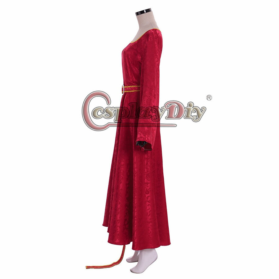Cosplaydiy Tangled Rapunzel Mother Gothel Cosplay Costume Dress Witch Gothel Dresses Medieval Women Princess Red Dress
