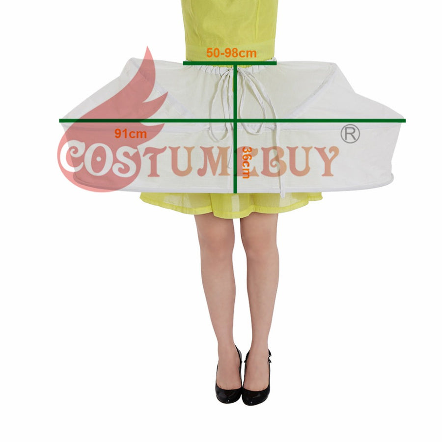 Costumebuy Vintage Rococo Crinoline Petticoat Underskirt Women Medieval Victorian Cage Bustle Skirt Ball Gown Dress Cosplay Prop